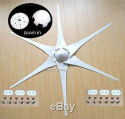 400 550 650 800 1000 Watt 24.12 V 06.03 Blades Wind Turbine Générateur + Controller