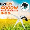 4000w 12 / 24v 5 Pales Éoliennes Générateur Horizontal Contrôleur De Charge
