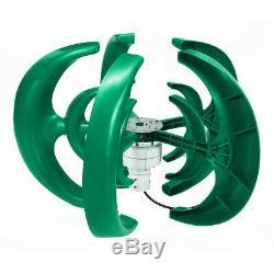 4000w 12v / 24v 5 Blades Lanterne Éolienne Générateur À Axe Vertical