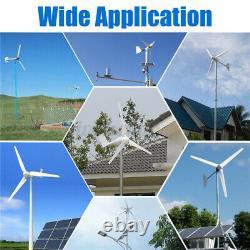 4000w 3/5 Éoliennes À Lame 12/24v Avec Générateur De Charge Puissance À La Maison