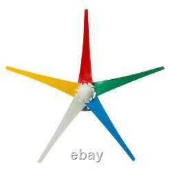 4000w 5 Pales Colorées 12v/24/48v Générateur D'éoliennes + Contrôleur De Charge