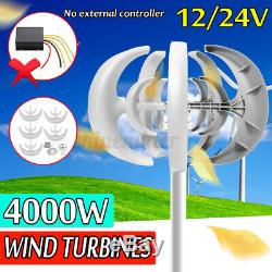 4000w Dc12 / 24v 5 Blades Lanterns Éolienne Générateur D'énergie Propre Énergie Accueil