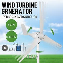 400w 12v Turbine Hybride Aérogénérateur 3 Lames 20a Parfait Pour Moulin Vert