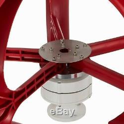 400w 24v Éolienne Générateur Lanterne Rouge Vertical 5 Feuilles Avec Contrôleur