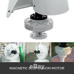 400w Lévitation Magnétique Aérogénérateur À Axe Vertical Turbine Mppt Contrôleur