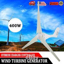 400w Max Power 3 Blades DC 12v Éolienne Générateur Kit Avec Contrôleur De Charge