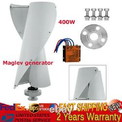 400w Vertical Wind Power Turbine Generator Maglev Générateur +charge Controller