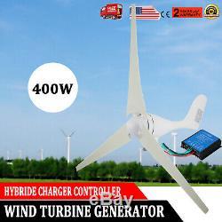 400w Wind Turbine Hybride Générateur 3 Lames DC 12v Kit Avec Contrôleur De Charge