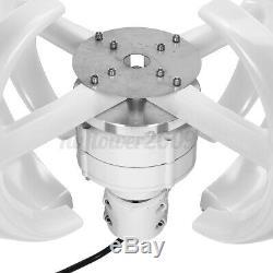 4200w 12v / 24v 4 Lames Éolienne À Axe Vertical Générateur D'énergie Propre Blanc