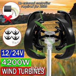 4200w DC 12v/24v 4 Blades Lantern Wind Turbine Generator Vertical Axis Windmill