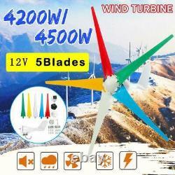 4200w Mas Power 5 Lames Générateur De Vent 12v / 24v Générateur De Turbine À Vent