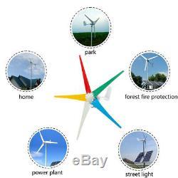 4200with4500w Max Puissance 5 Lames 12/24 / 48v Éolienne Générateur Kit 3