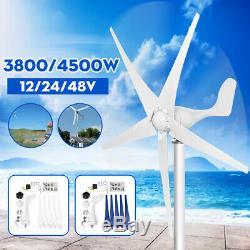 4500w Max Power Dc12 / 24 / 48v 3 / 5blades Éoliennes Générateur Contrôleur De Charge