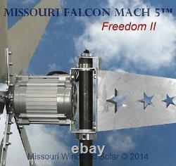 48 Volt 2000 Watt Missouri Falcon Mach 5 80.5 Pouces Liberté LL Turbine Éolienne