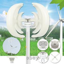 4kw 12v 4 Lames Générateur D'éoliennes Vertical Axis Clean Energy Garden/home