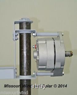 5 Blade 12 Volt DC Sortie 700 Watt Éolienne Package Missouri Éolien Et Solaire