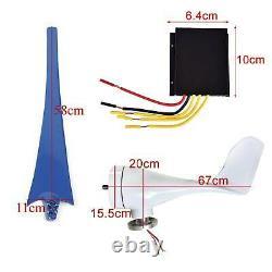 5 Lames 5000w 12v / 24v Horizontal Éolienne Générateur Électrique + Contrôleur De Charge
