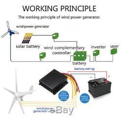 5 Lames 5000w Éolienne Générateur Kit 24v DC W. Puissance Contrôleur De Charge