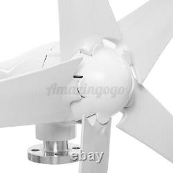 5 Pales 24/12/48v 2000w Charge Horizontale Du Générateur D'éoliennes