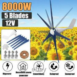 5 Pales 8000w Max Wind Turbines Generator 12v Windmill Withcharge Controller