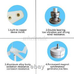 5 Pales 800w Max Power 12/24/48v Générateur D'éoliennes Aveccharge