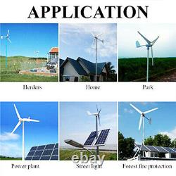 5000w Max Power 5 Pales DC 24v Wind Turbine Generator Kit W. Charge Controller