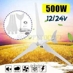 500w Max Power 3 Lames 12/24v Générateur Horizontal D'éolienne Avec Contrôleur