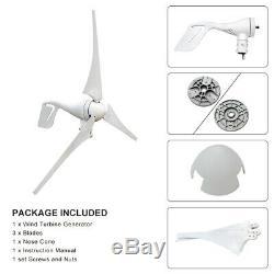 500w Wind Turbine Générateur 12v Kit 400w Générateur 100w Panneau Solaire Puissance Accueil