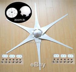 6 X 53 Prise Turbine Aérogénérateur Blades + Hub + Cône De Nez 6 Ajustement Air-x Apollo