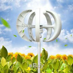 600w 12v24v Lantern 5-blade Vawt Éolienne À Axe Vertical Régulateur Programmateur