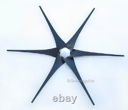 6x 62 Pales De Générateur D'éoliennes + Moyeu + Cône Avant 6 Ajustement De Prise Air-x 403 B