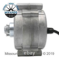7 Lame 1600 Watt Turbine Vent Sealed Noir Blades Missouri Éolienne Et Solaire