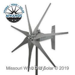 7 Lame De 1600 Watts Étanche Étanche Éolienne Gris Lames De Missouri Wind And Solar