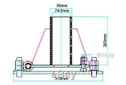 74.5mm 2 1/2 Pole Tour Mont Base De Fondation Pour Éolienne Générateur