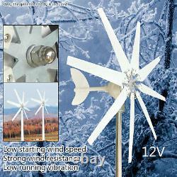 8 Lames 300w Générateur De Turbine Éolienne DC 12v Contrôleur De Charge D'alimentation