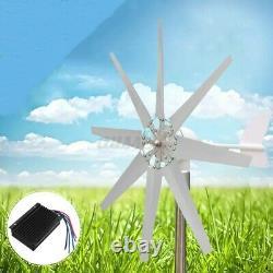 8 Lames 8000w Générateur De Turbine Éolienne 12v/24v Contrôleur De Charge Éolienne