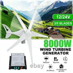 8000w 3/5 Turbines À Vent À Lame 12/24v Avec Générateur De Contrôleur De Charge