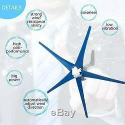 8000w 5 Lames 12v / 24v Éoliennes Générateur Horizontal Vent Lire La Description