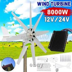 8000w 8 Lames Générateur De Turbine Éolienne DC 12v Contrôleur De Charge 24v Wind Generat