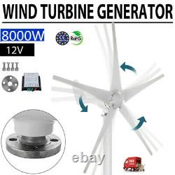 8000w Wind Turbine Generator Unit 5 Pales With DC 12v Power Charge Controller (en)
