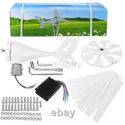 8000w Wind Turbine Genertor Kit 12 / 24v Aérogénérateur 3/5/8 Lames Avec Contrôleur