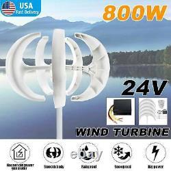 800w 24v 5 Générateur De Turbine Éolienne À Lame Kits D'axe Vertical Énergie Propre Accueil