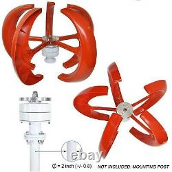 800w Max 12v 5 Blade Wind Turbine Wind Vertical Axis Generator Kit With Controller
