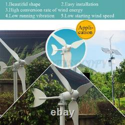 800w Max Power 3 Lames 12v/24v Wind Turbine Generator Kit With Controller