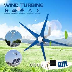 800w Max Power 5 Lames DC 24v Wind Turbine Generator Kit Avec Charg