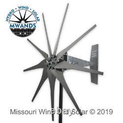 9 Lame 1600 Watt Turbine Vent Étanche Gris Blades Missouri Éolienne Et Solaire