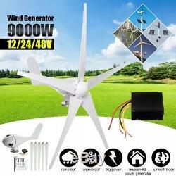 9000w 5 Blades 48v Générateur Éoliennes Horizontal Aérogénérateur Avec Co