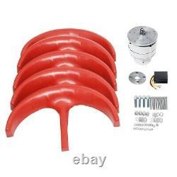 9000w 5 Pales Vertical Axi Wind Turbines Generator Lantern 12v 24v Motor Kit