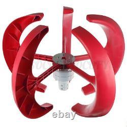 9000w DC 24v 5 Lames Lanterne Générateur De Turbine Éolienne Axis Vertical Puissance De La Maison