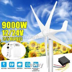 9000w Max Power 5 Lames 12/24v Kit Générateur D'éoliennes Avec Contrôleur De Charge